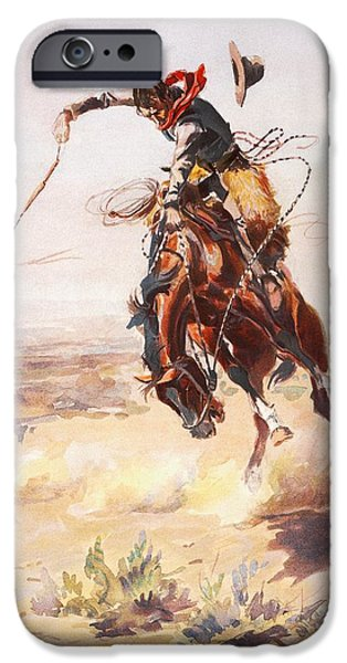 A Bad Hoss iPhone Case by Charles Russell