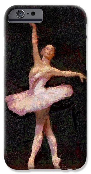 Ballet Of Colors iPhone Cases - A Ballerina Is Made Of  iPhone Case by Catherine Lott