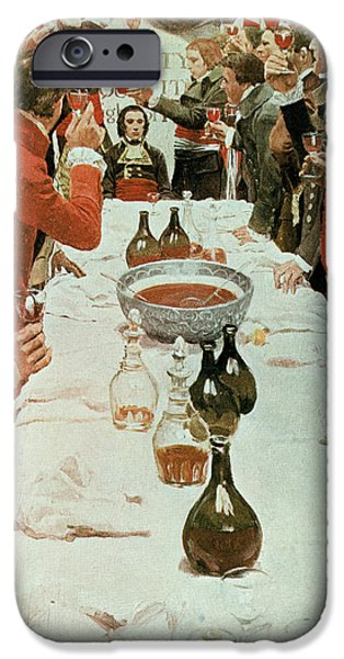 Toasting iPhone Cases - A Banquet To Genet, Illustration From Washington And The French Craze Of 93 By John Bach Mcmaster iPhone Case by Howard Pyle