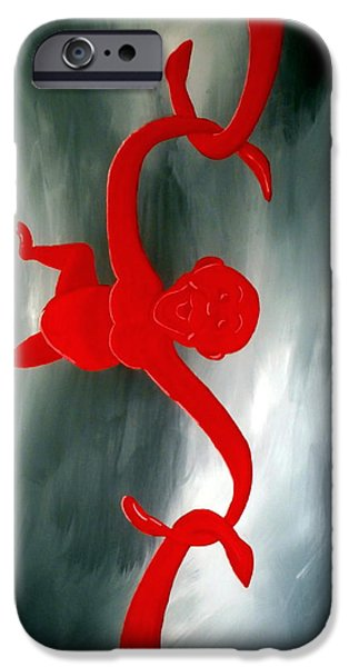 Barrel Paintings iPhone Cases - A Barrel Full of Monkeys Game iPhone Case by Karyn Robinson