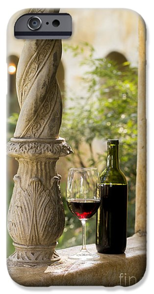 Red Wine iPhone Cases - A Beautiful Day for Wine iPhone Case by Jon Neidert