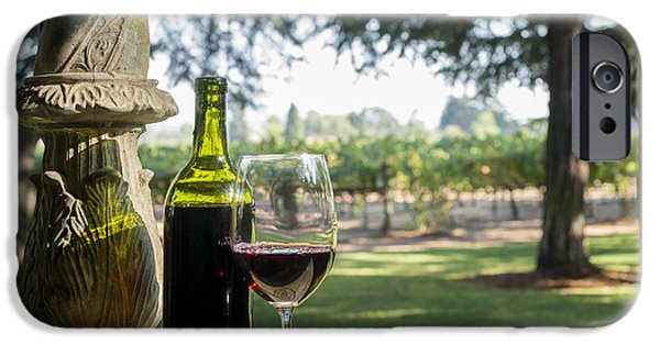 Recently Sold -  - Wine Bottles iPhone Cases - A Beautiful Day in Napa iPhone Case by Jon Neidert