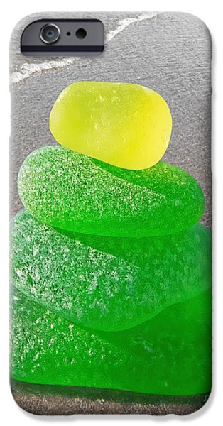 Beach Glass iPhone Cases - A Beautiful Light Created From Sand iPhone Case by Barbara McMahon
