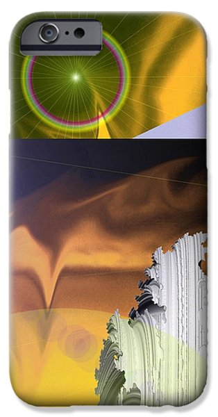 Abstract Digital Photographs iPhone Cases - A Beautiful Mad Mad World iPhone Case by Jeff  Swan