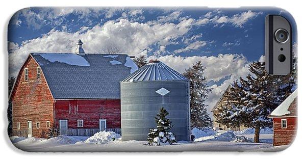 Nebraska iPhone Cases - A Beautiful Winter Day iPhone Case by Nikolyn McDonald