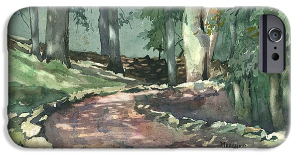 Historic Site Paintings iPhone Cases - A Bend In The Road iPhone Case by Spencer Meagher