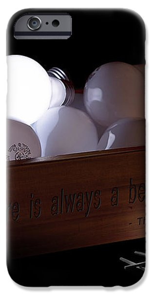 A Better Way Still Life - Thomas Edison iPhone Case by Tom Mc Nemar