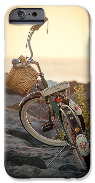 Board iPhone Cases - A Bike and Chi iPhone Case by Peter Tellone