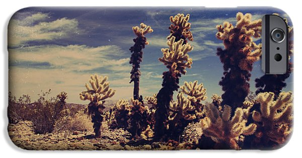 Desert Digital Art iPhone Cases - A Billion Needles Went into My Heart iPhone Case by Laurie Search