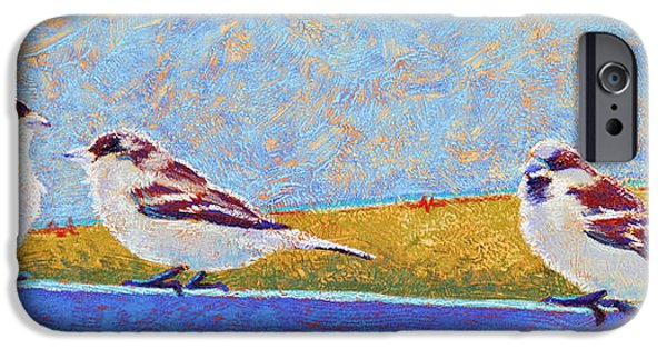 Field. Cloud Pastels iPhone Cases - A Birdie Told Me iPhone Case by Tracy L Teeter