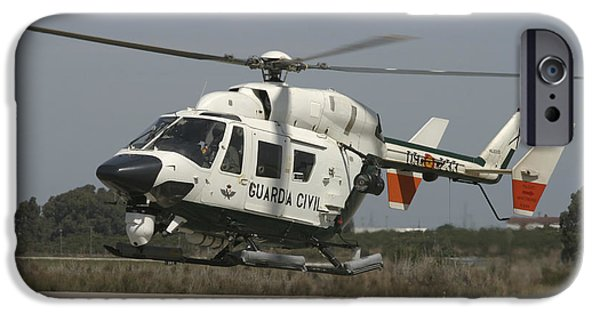 Law Enforcement iPhone Cases - A Bk117 Utility Helicopter iPhone Case by Timm Ziegenthaler