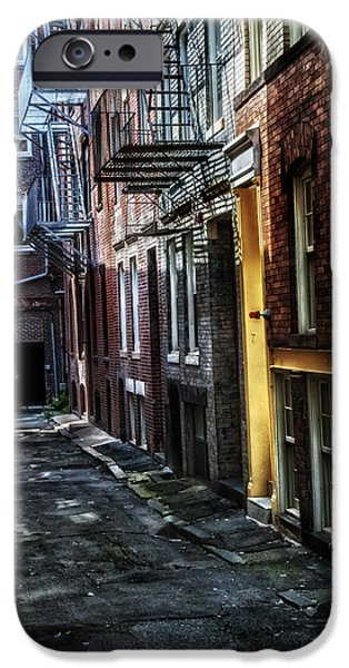 Bean Town iPhone Cases - A Boston Alley iPhone Case by Thomas Schoeller