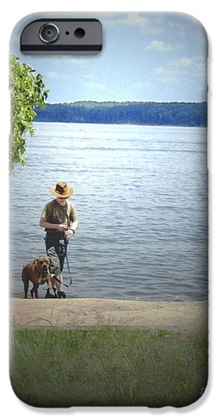 A boy and his dog iPhone Case by Sandra Clark