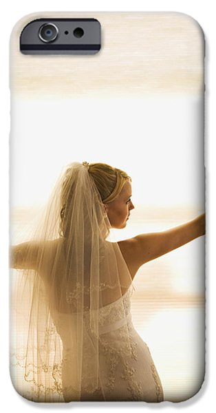 25-29 Years iPhone Cases - A Bride Pondering Her Big Day While iPhone Case by Micah Wright
