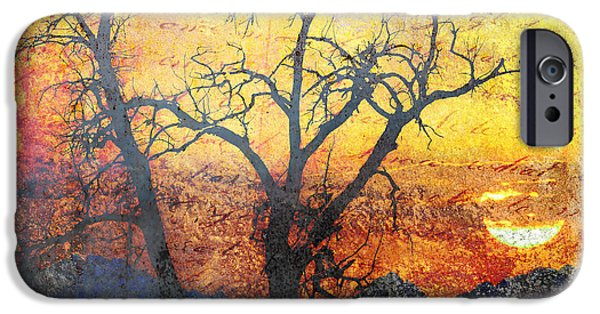Epic Amazing Colors Landscape Digital Modern Still Life Trees Warm Natural Earth Organic Paint Chic Decor Interior Design Brett Pfister Art Digital Art iPhone Cases - A Brilliant Observer of Life iPhone Case by Brett Pfister
