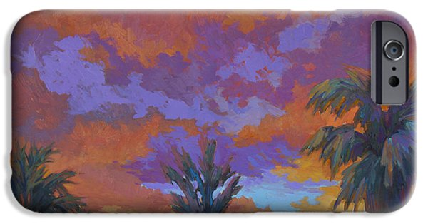 Brilliant Paintings iPhone Cases - A Brilliant Sunrise iPhone Case by Diane McClary