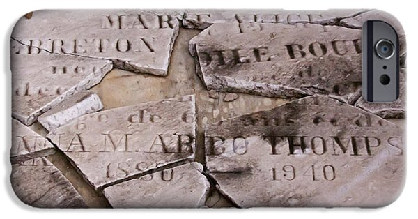 Cemetary iPhone Cases - A Broken Past   #5632 iPhone Case by J L Woody Wooden