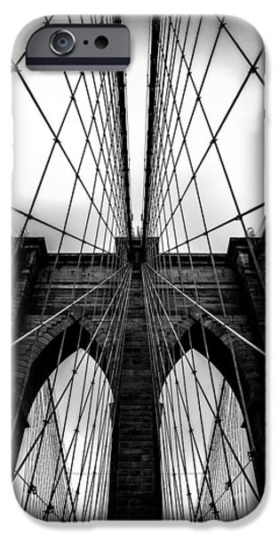 Cable iPhone Cases - A Brooklyn Perspective iPhone Case by Az Jackson