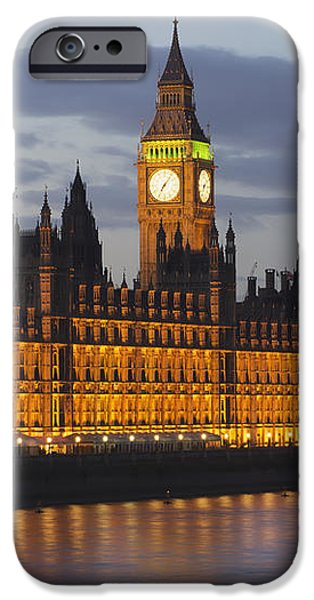 A Building And Clock Tower Along The iPhone Case by Charles Bowman
