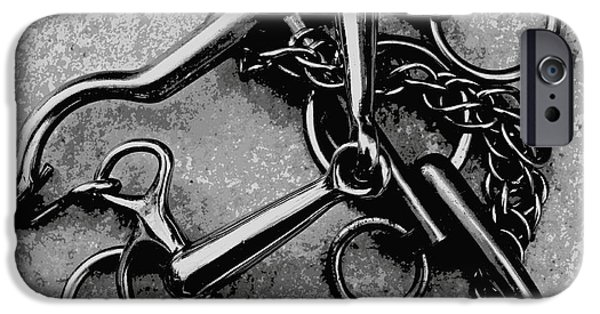 Horse Bit iPhone Cases - A Bunch of Bits iPhone Case by Clare Bevan