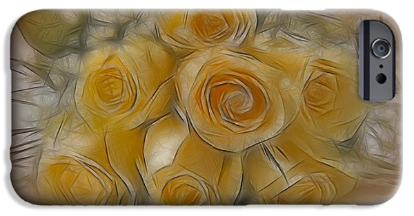 Botany iPhone Cases - A Bunch Of Yellow Roses iPhone Case by Susan Candelario