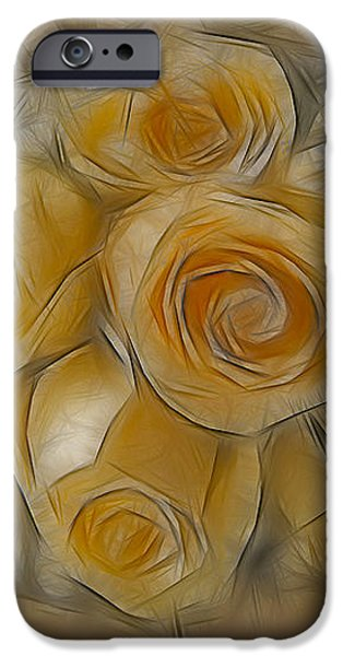 A Bunch Of Yellow Roses iPhone Case by Susan Candelario