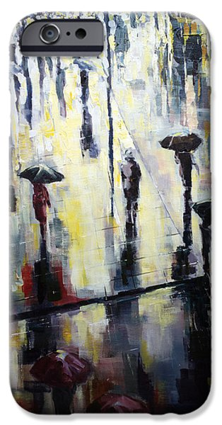 Recently Sold -  - Rainy Day iPhone Cases - A burst of sunshine on a rainy day iPhone Case by Zlatko Music