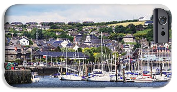 Sailboat Ocean iPhone Cases - A Busy Harbour And Waterfrontkinsale iPhone Case by Peter Zoeller