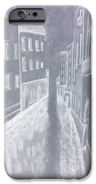 Inverted Drawings iPhone Cases - A canal in Venice iPhone Case by Irving Starr
