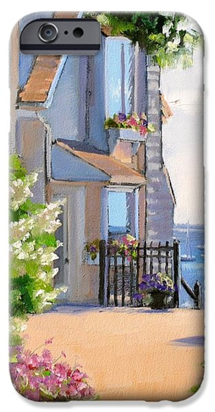 A Cape Cod Paradise iPhone Case by Laura Lee Zanghetti