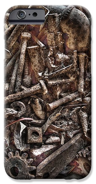 Machinery iPhone Cases - A Case of Curiosities iPhone Case by William Fields