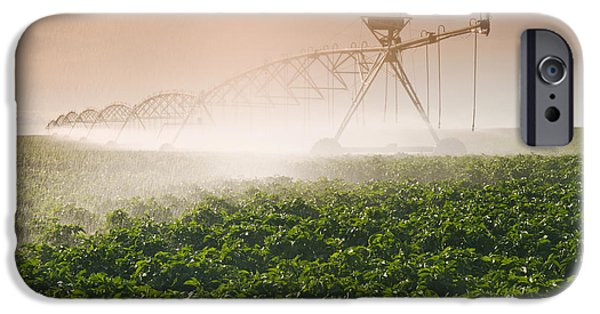 Dave iPhone Cases - A Center Pivot Irrigation System iPhone Case by Dave Reede