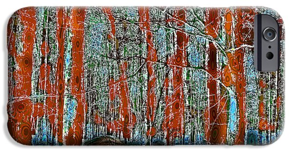 Surreal Landscape iPhone Cases - A Change in the Seasons II iPhone Case by David Patterson