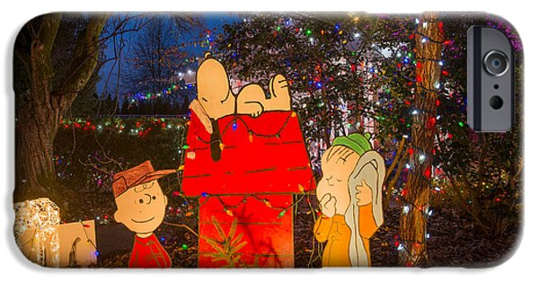 Doghouse iPhone Cases - A Charlie Brown Christmas iPhone Case by Michael Wheatley