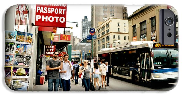 Asphalt Paintings iPhone Cases - A City Bus 1 iPhone Case by Lanjee Chee