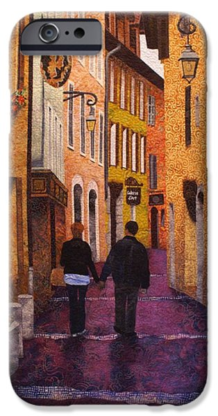 A City Walk in Spring iPhone Case by Lenore Crawford