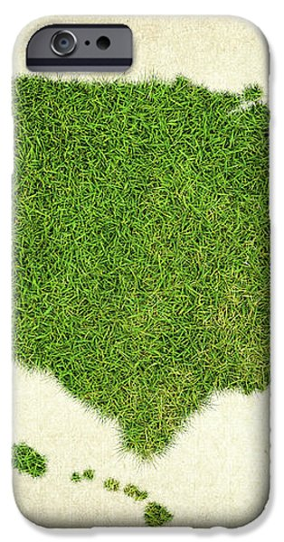 United State Grass Map iPhone Case by Aged Pixel