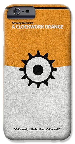 Clockwork iPhone Cases - A Clockwork Orange iPhone Case by Ayse Deniz