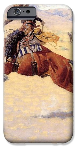 A Cold Morning on The Range  iPhone Case by Frederic Remington