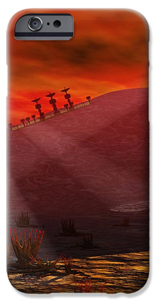 A Colony Being Established On An Alien iPhone Case by Mark Stevenson