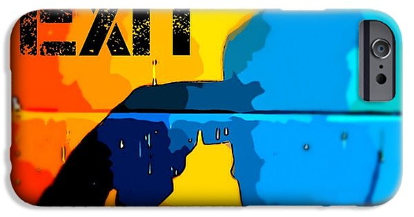Disorder iPhone Cases - A Colorful Exit  iPhone Case by John Malone Halifax photographer