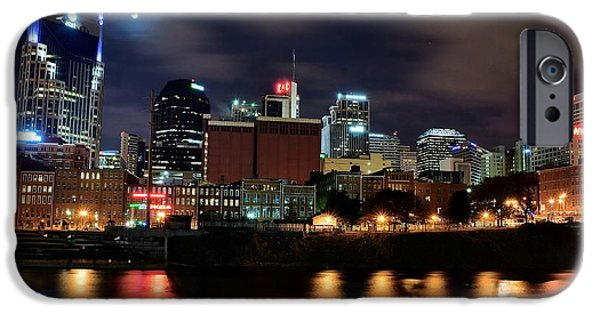 Inner World iPhone Cases - A Colorful Night in Nashville iPhone Case by Frozen in Time Fine Art Photography