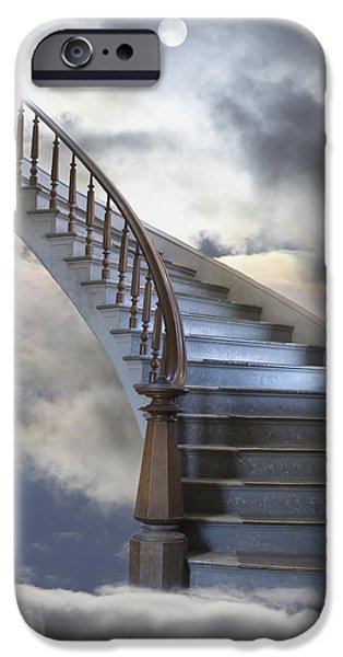 A Composite Entitled Staircase iPhone Case by Robert Bartow