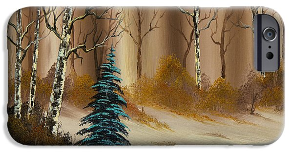 Best Sellers -  - Bob Ross Paintings iPhone Cases - Russet Winter iPhone Case by C Steele