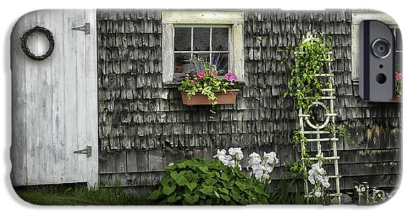 Mid-coast Maine iPhone Cases - A Cottage Garden - Essence of Mid Coast Maine iPhone Case by Thomas Schoeller
