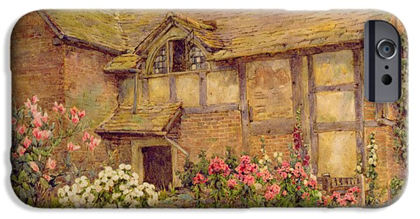 Garden iPhone Cases - A Cottage garden in Cholstry iPhone Case by Ernest Arthur Rowe