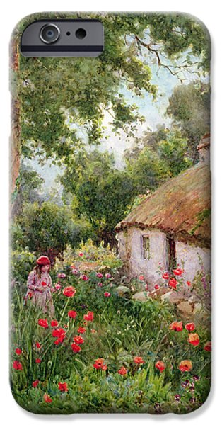 Charming Cottage iPhone Cases - A Cottage Garden iPhone Case by Tom Clough