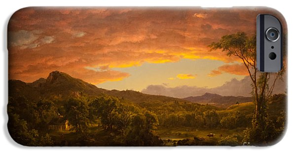 Vale iPhone Cases - A Country Home iPhone Case by Frederic Edwin Church