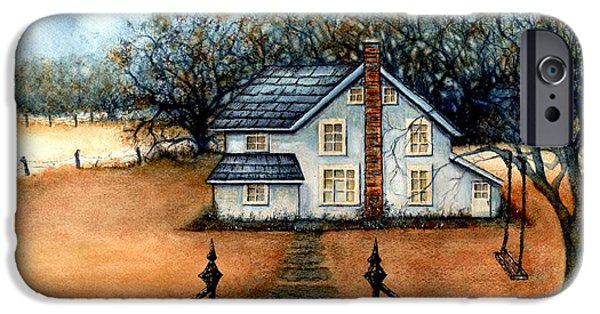 Worn In iPhone Cases - A country Home iPhone Case by Janine Riley