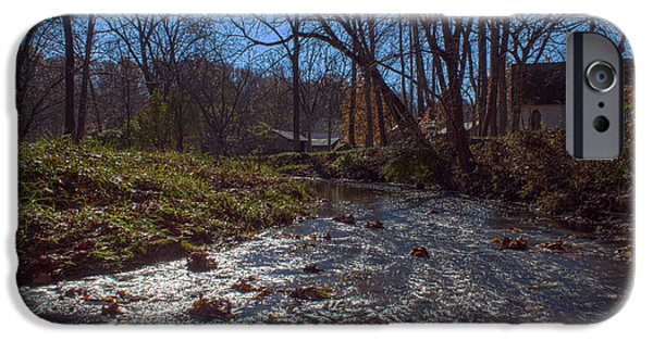 Billie Creek iPhone Cases - A Creek Runs Though It iPhone Case by Thomas Sellberg